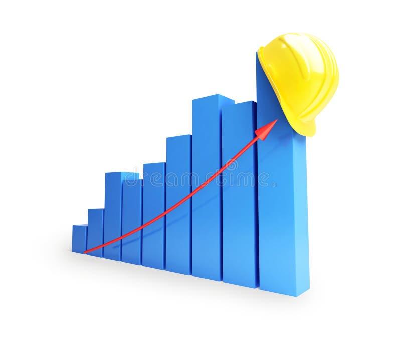 成功的发展中的产业 向量例证