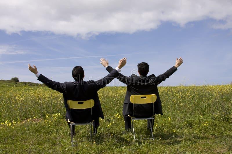 成功的合伙企业 库存图片