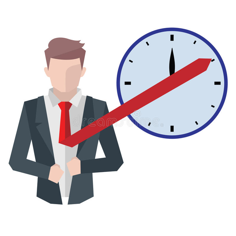 成功的商人,经济情况概念 工作在办公室、欲望成功,配合和管理 向量例证