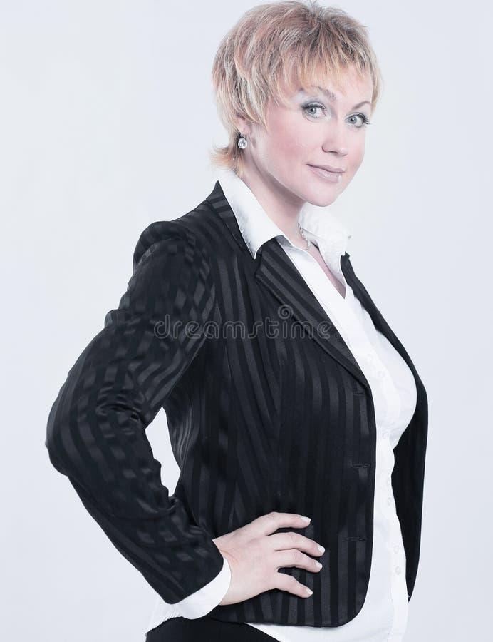 成功的女商人画象有构成的在样式事务 库存图片