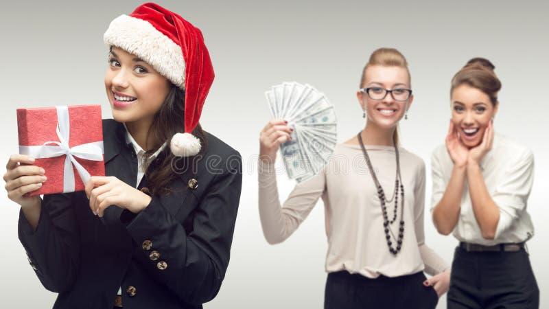 年轻成功的女商人队  免版税库存图片