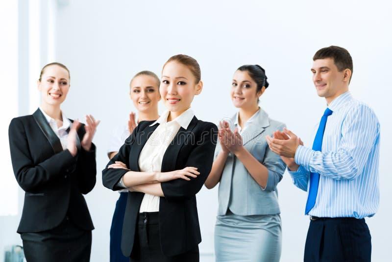 成功的女商人 库存照片