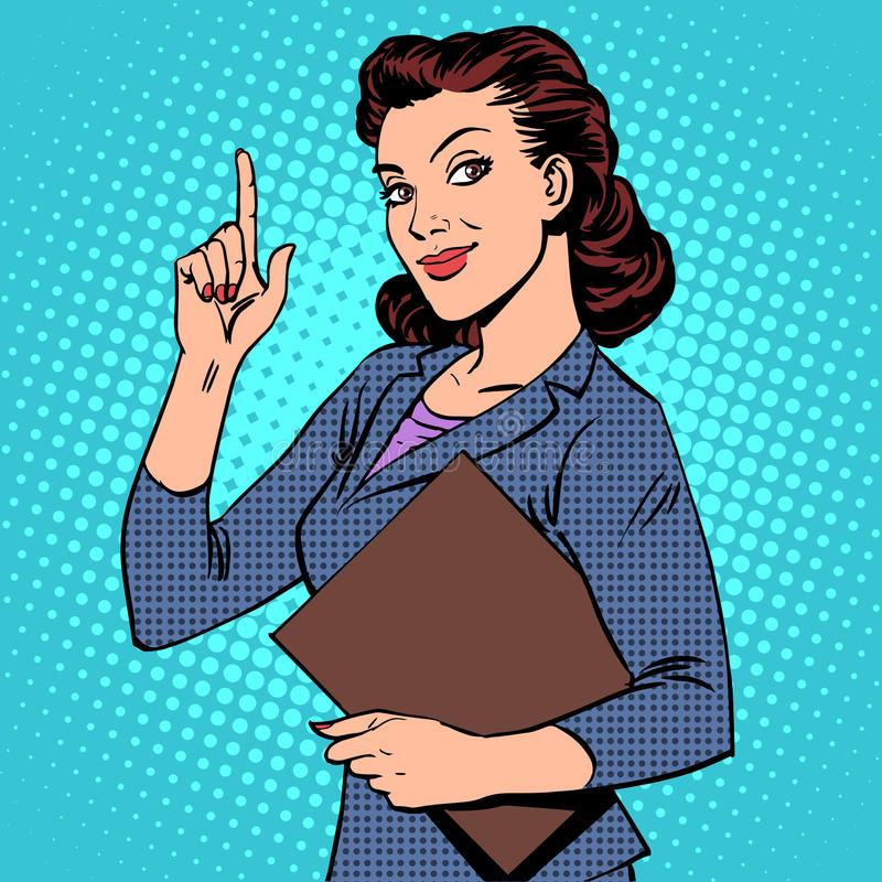 成功的女性女实业家 向量例证