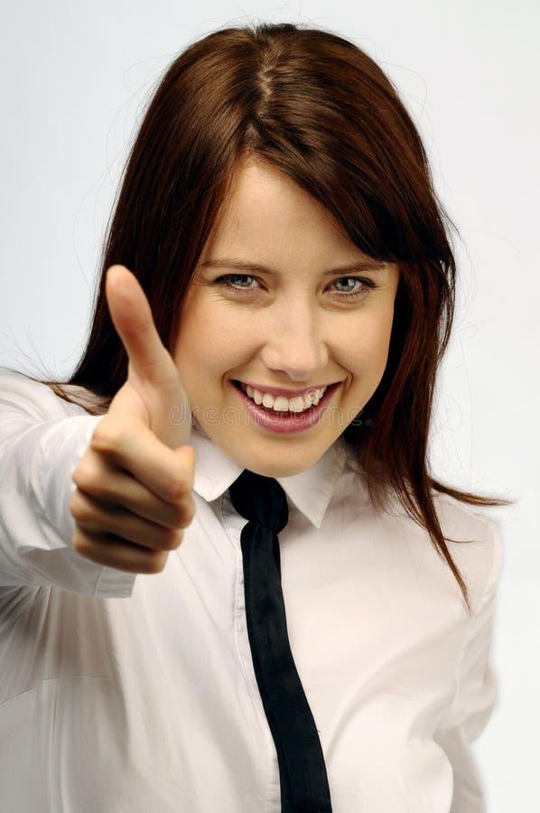 成功的妇女年轻人 免版税库存照片