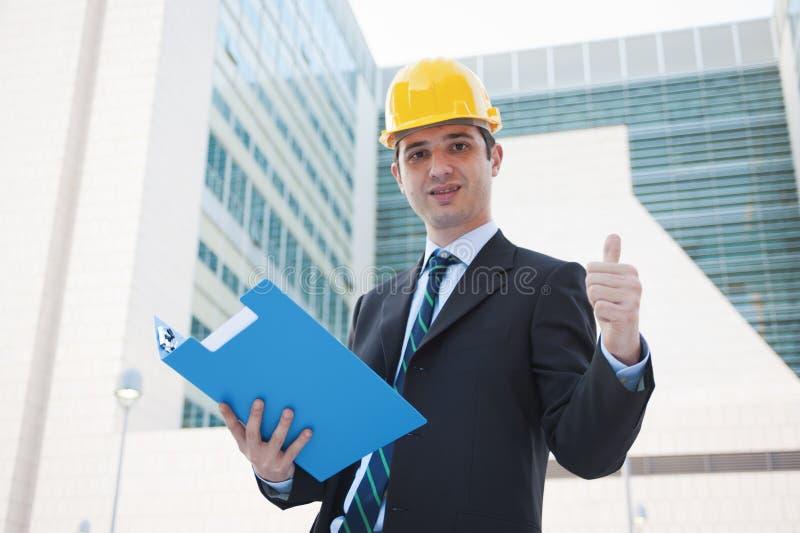 成功的建筑师 免版税库存照片