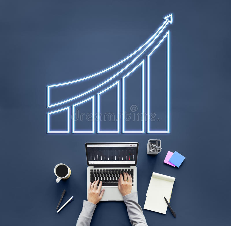 成功的成就增量成长图表概念 库存图片