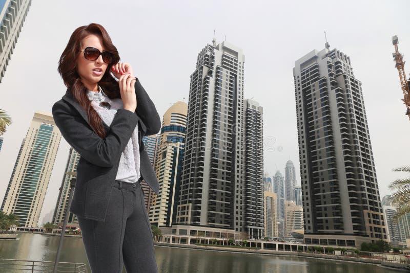 成功的美丽的女商人 免版税库存照片