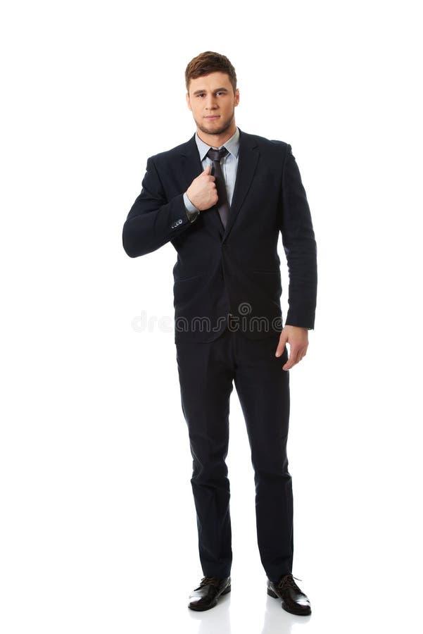 成功的英俊的商人 库存照片