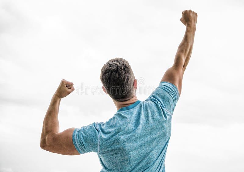 成功的运动员 胜利和成功 冠军优胜者 未来机会 领导和竞争 ?? 免版税库存图片