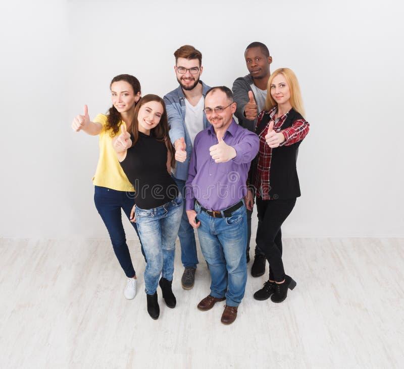 成功的队概念 企业确信的人员 免版税库存照片