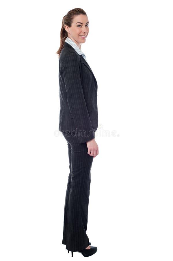 成功的年轻女商人 免版税库存照片