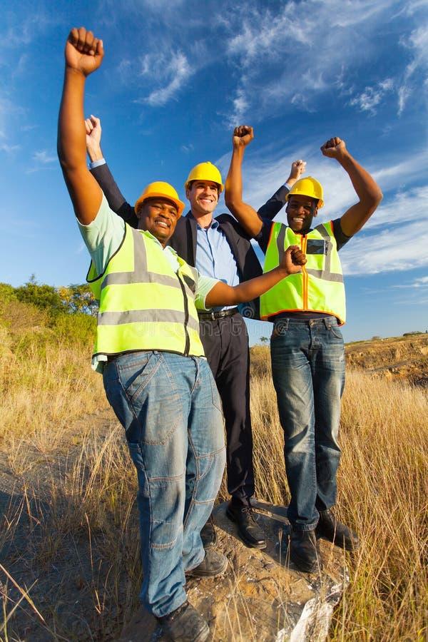 成功的建筑工人 免版税图库摄影
