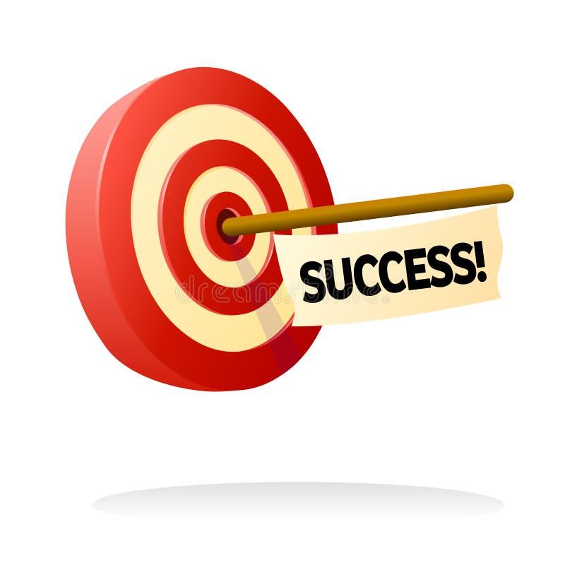 成功目标 库存例证