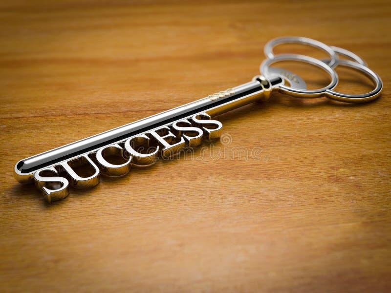 成功-木头的钥匙 免版税库存图片