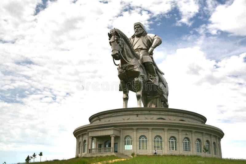 成吉思汗在蒙古资本Ulaanbaatar的Tsonjin Boldogeast的雕象复合体 库存照片