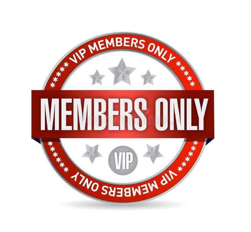 仅成员。VIP封印例证设计 向量例证