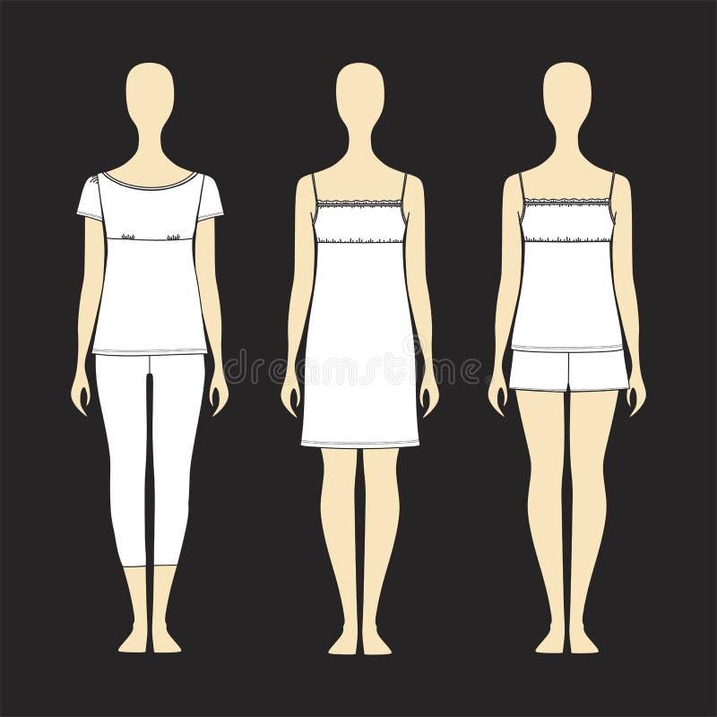 成套工具球衣家 妇女的睡衣 免版税图库摄影