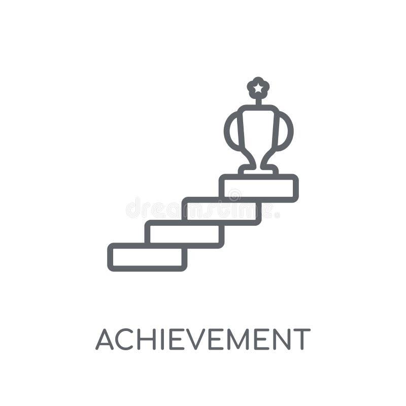 成就线性象 现代概述成就商标概念 向量例证