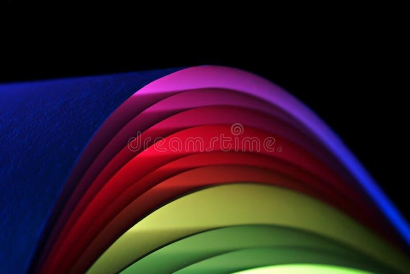 成拱形五颜六色的纸张 库存图片