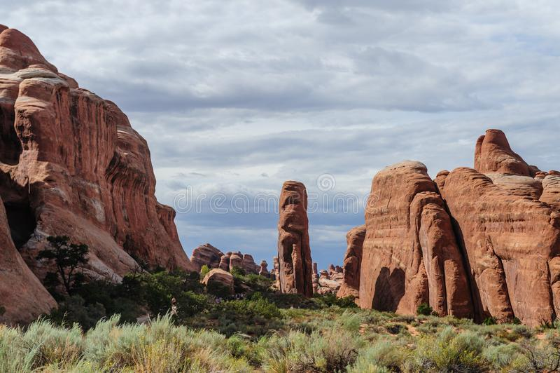 成拱形国家公园 免版税图库摄影