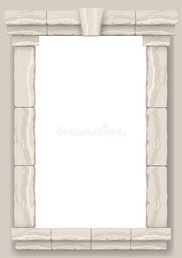 成拱形在灰棕色裁减石头墙壁  向量例证