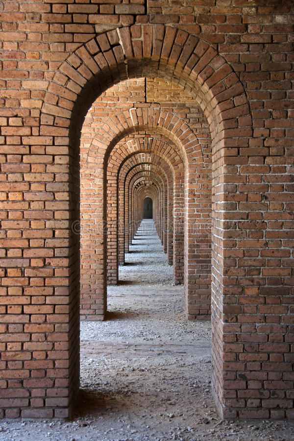 成拱形堡垒杰斐逊 库存照片