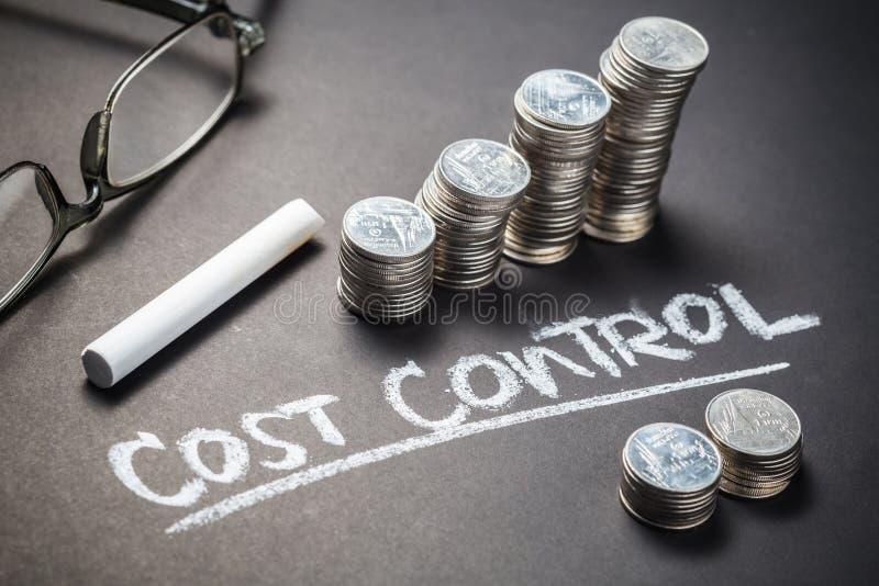 成本控制和硬币 库存照片