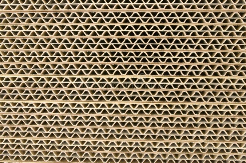成波状的纸板 图库摄影