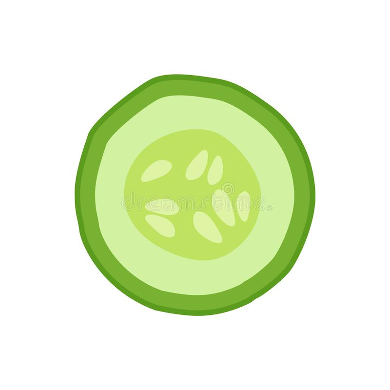 成熟作为成份的黄瓜圆的切片戒毒所的 向量例证