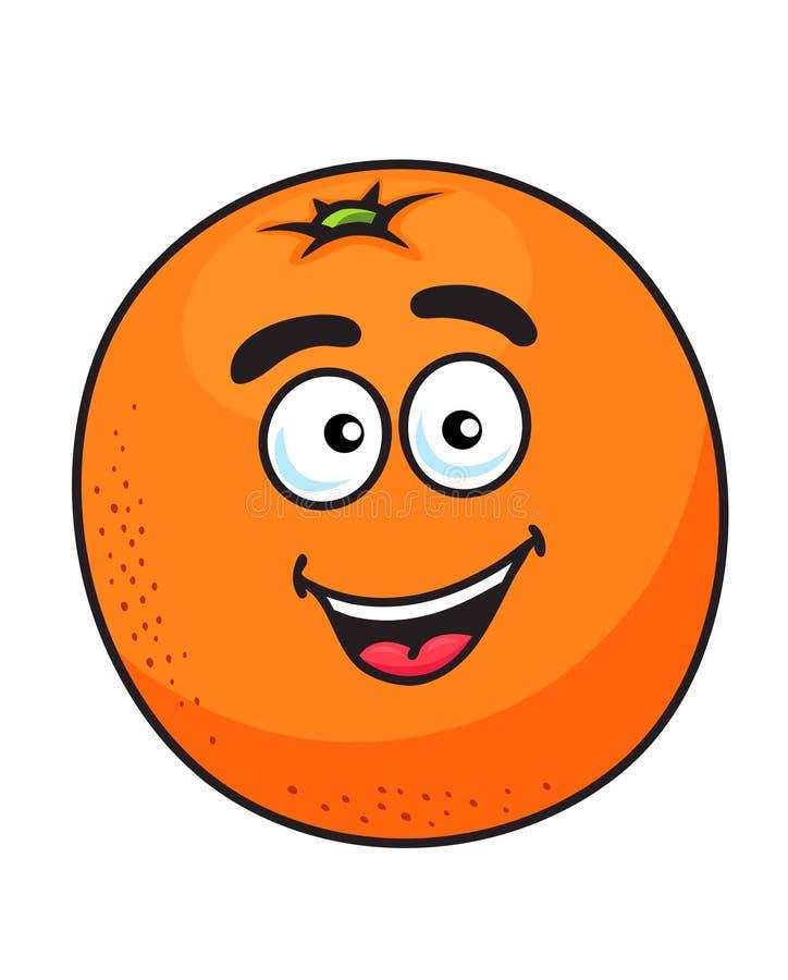 成熟动画片桔子果子 库存例证