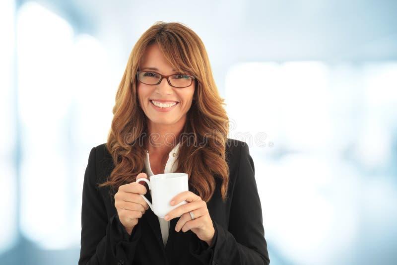 有的女实业家coffebreak 免版税库存图片