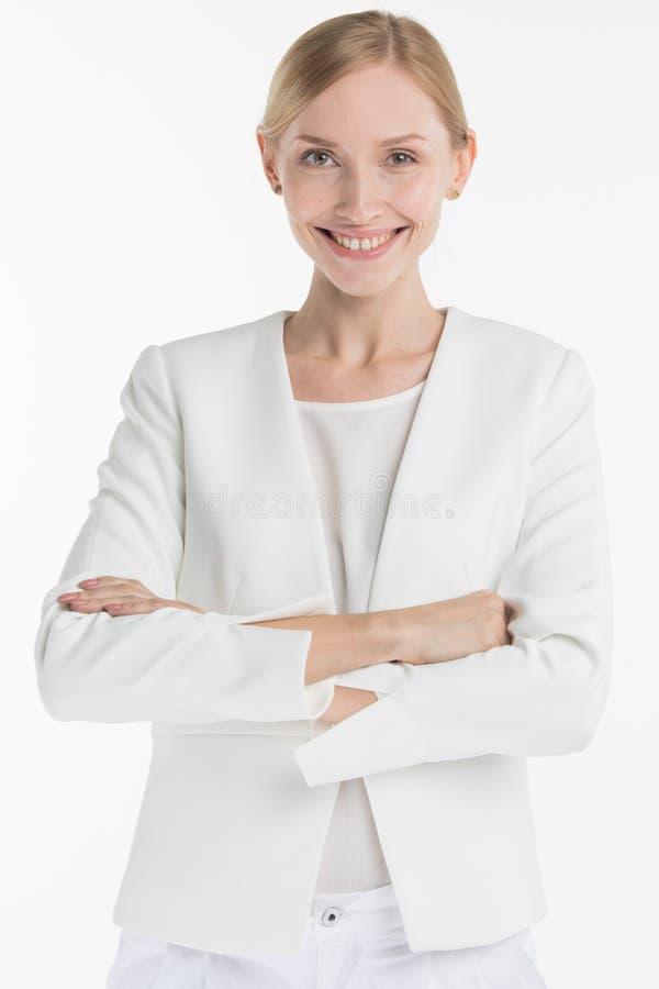 成熟微笑的妇女 图库摄影