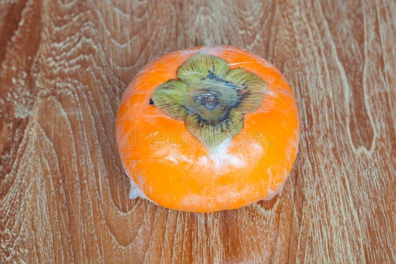 成熟日本柿子 库存照片