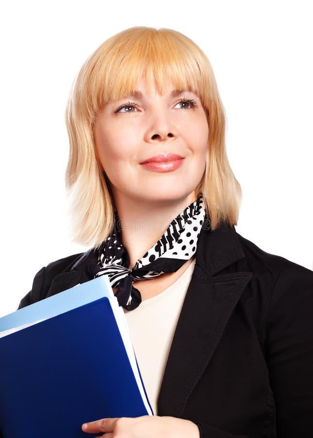 成熟白肤金发的女实业家 免版税库存图片