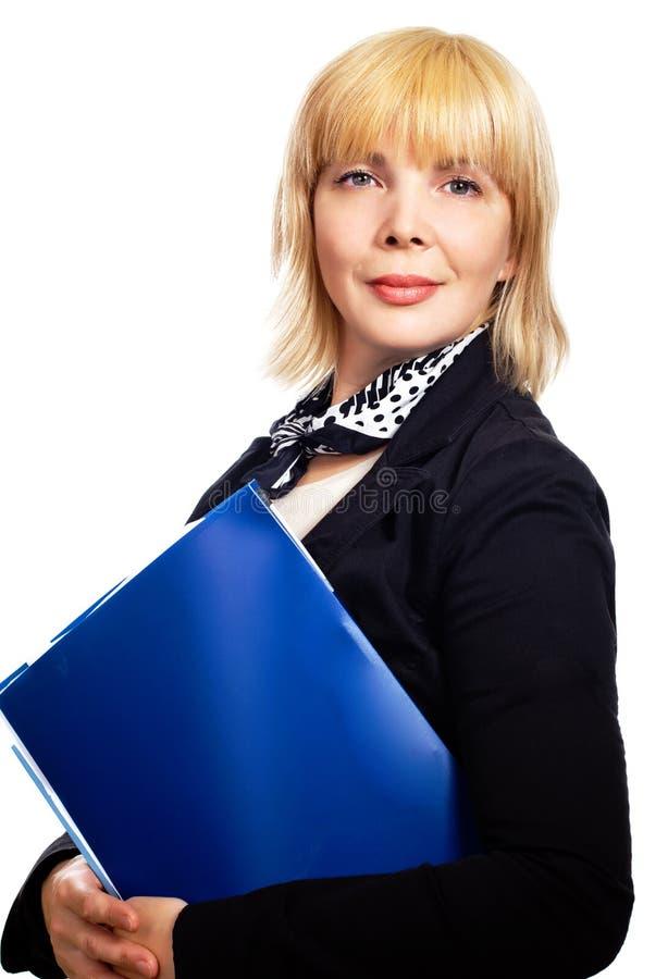 成熟白肤金发的女实业家 库存图片