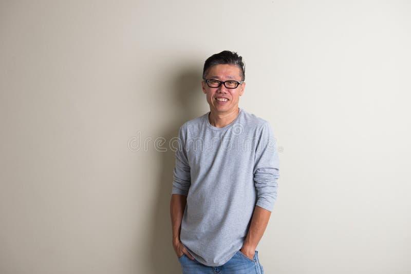 成熟的亚洲人 库存照片