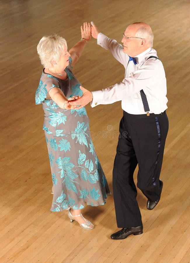 成熟舞厅舞蹈演员   库存照片
