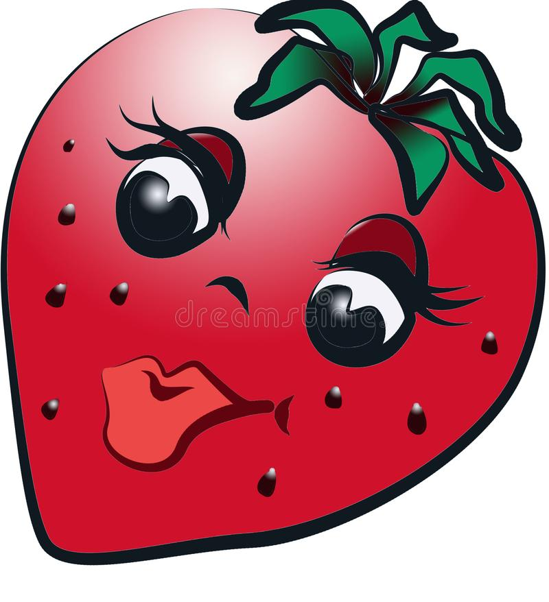 成熟草莓样式图表 免版税库存照片