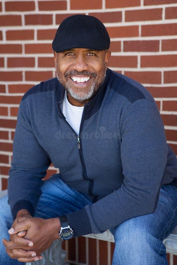 成熟非裔美国人人微笑 库存图片