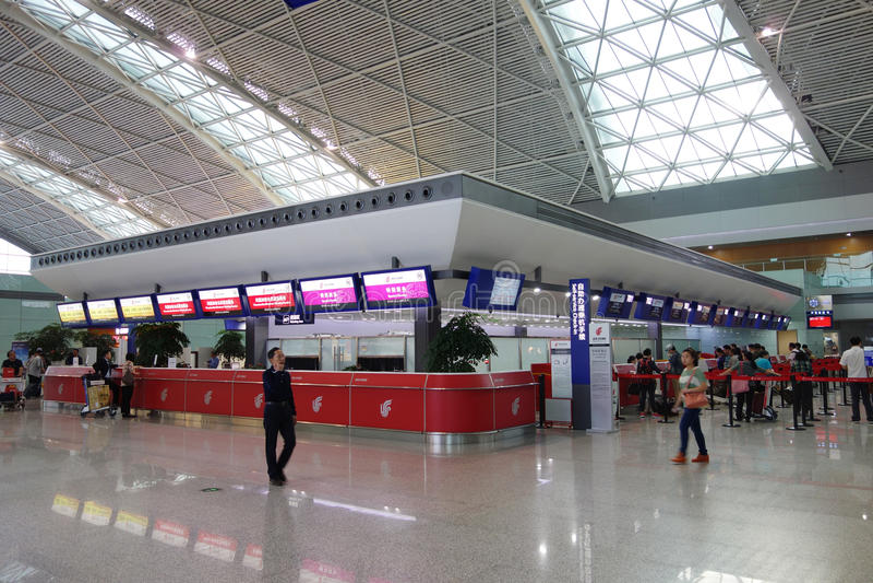 成都双流机场终端2 免版税图库摄影
