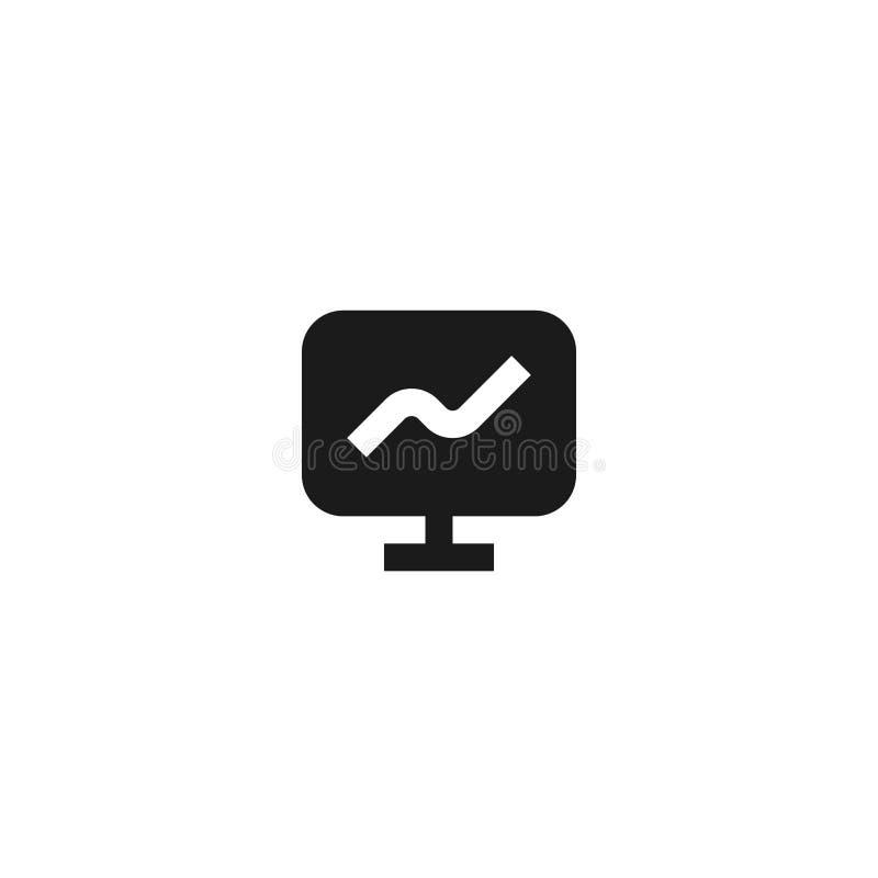 成长介绍象设计 有增长的线性图标志显示器屏幕 简单的干净的专业业务管理 皇族释放例证