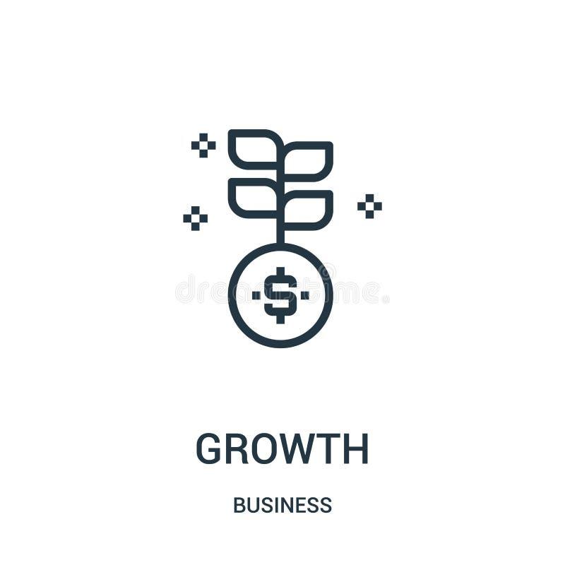成长从企业汇集的象传染媒介 稀薄的线成长概述象传染媒介例证 线性标志为在网的使用和 库存例证