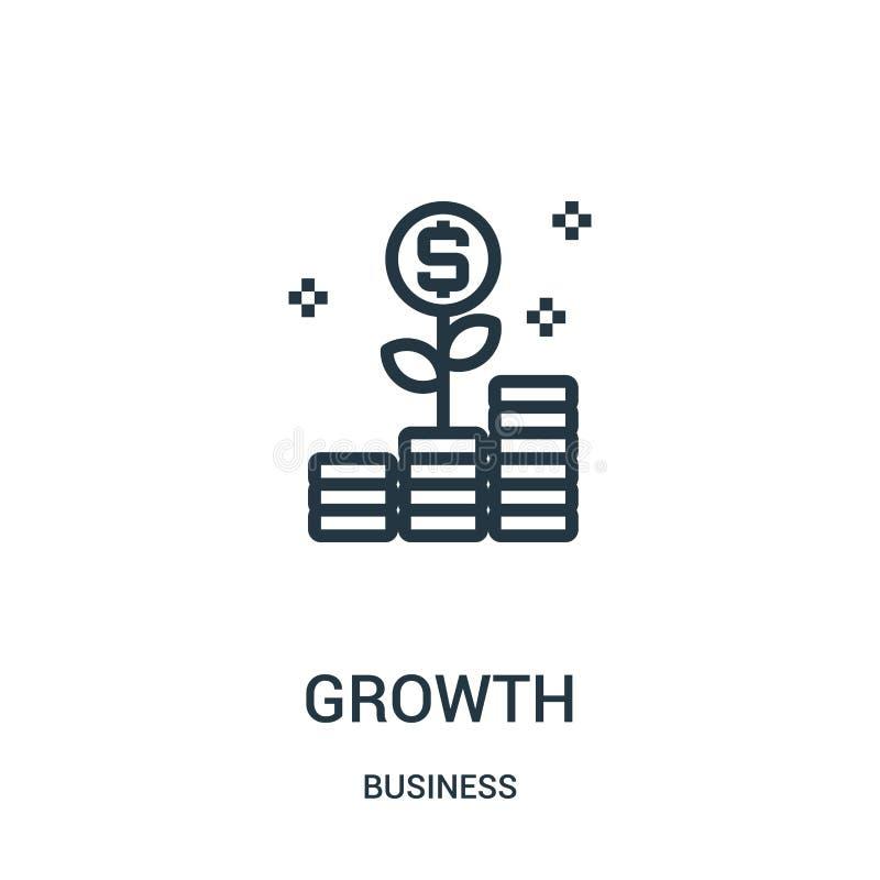 成长从企业汇集的象传染媒介 稀薄的线成长概述象传染媒介例证 线性标志为在网的使用和 皇族释放例证