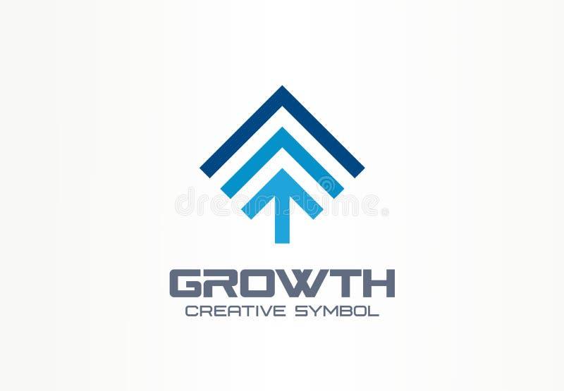成长创造性的标志概念 赢利增量在成功抽象商业投资商标签字 进展箭头 库存例证
