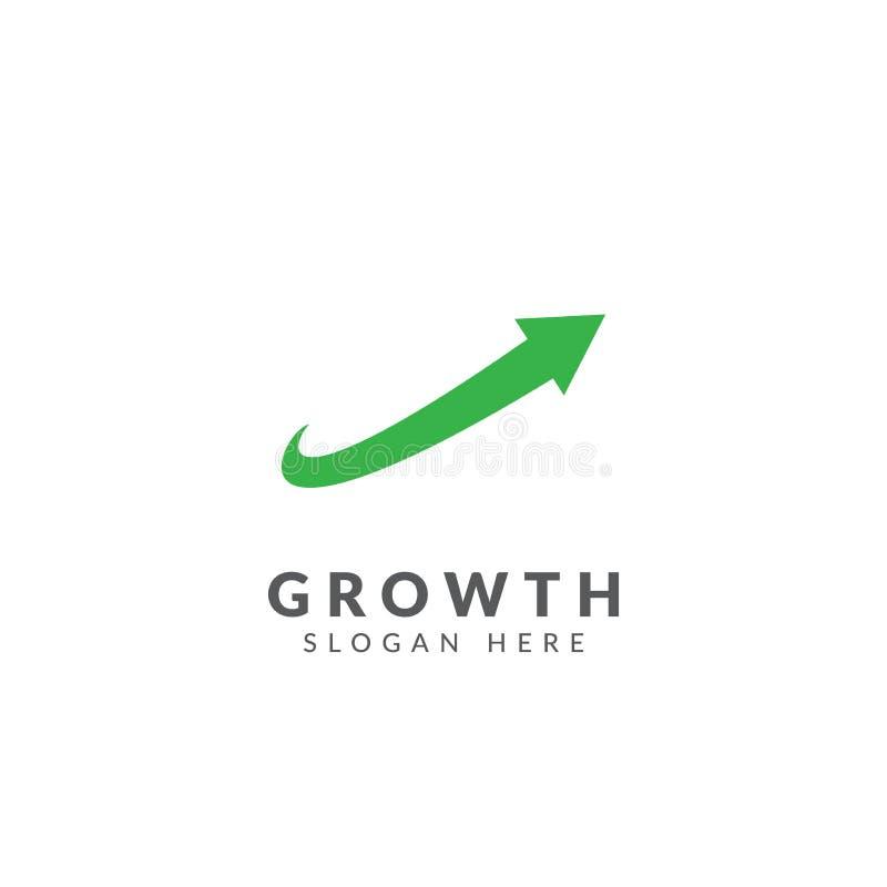 成长商标传染媒介设计模板 库存例证