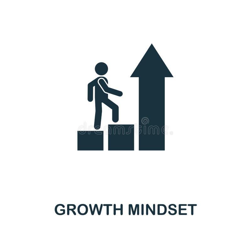 成长心态创造性的象 简单的元素例证 成长心态概念从软的技能收藏的标志设计 Perfe 向量例证