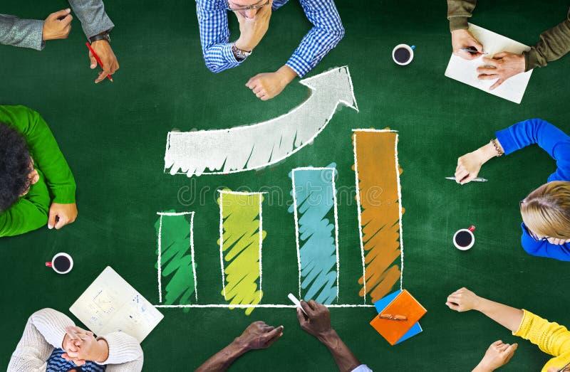 成长成功改善发展长条图成就 免版税库存图片