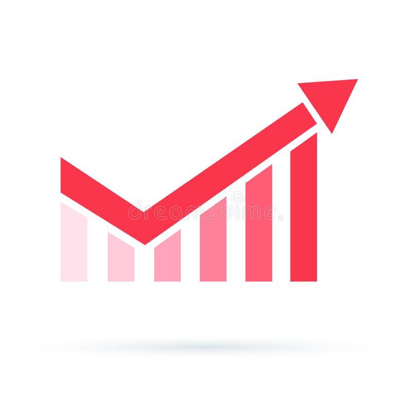 成长曲线图象 增加赢利图象 复利净增值,金融投资股市 皇族释放例证