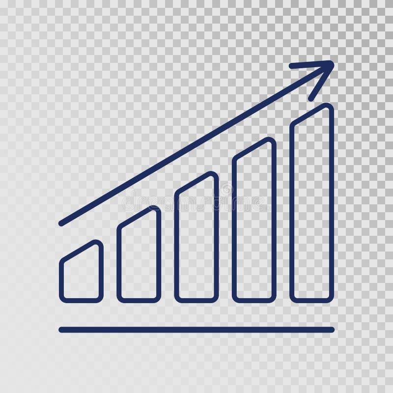 成长模板 企业进展 在透明背景的增长的长条图象 财务,事业生长概念 向量例证