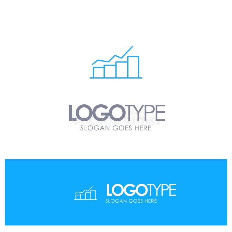 成长,图,流程图,图表,增量,与地方的进展蓝色概述商标口号的 向量例证